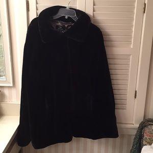 dennis basso Black teddy bear coat